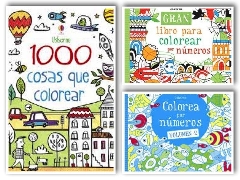 Pack 3 Libros Colorear Usborne Descatalogado