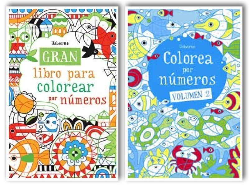 Pack 2 libros actividades colorea con numeros
