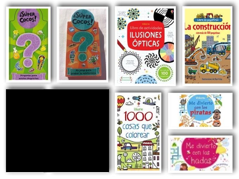 Pack 7 libros: 5 actividades + 2 supercocos